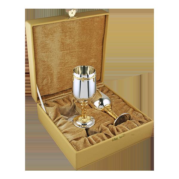 Набор винных посеребренных бокалов для вина «Аксельбант»