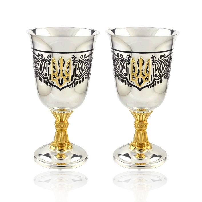 Набор серебряных рюмок «Герб Украины»