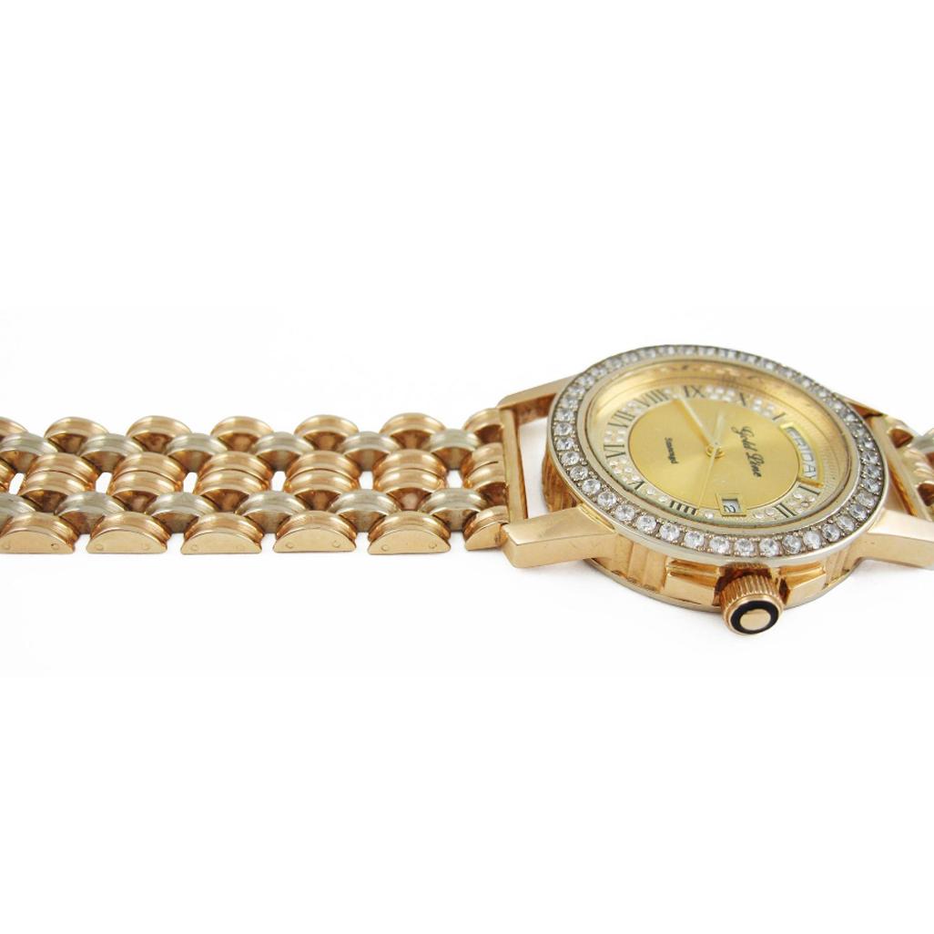 Золотые часы с фианитами «Rudolf»