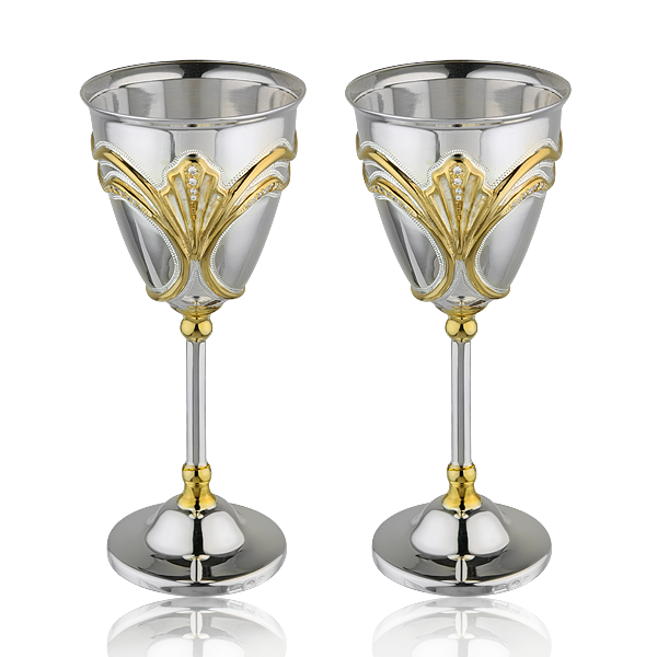 Набір чарок с фіанитами «Витонченість» -2 шт