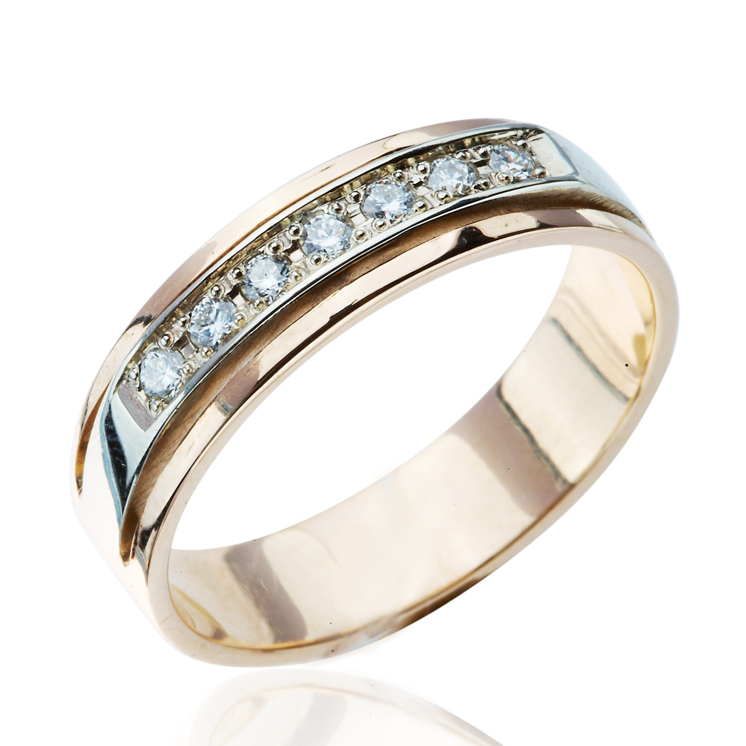 Обручка з діамантом