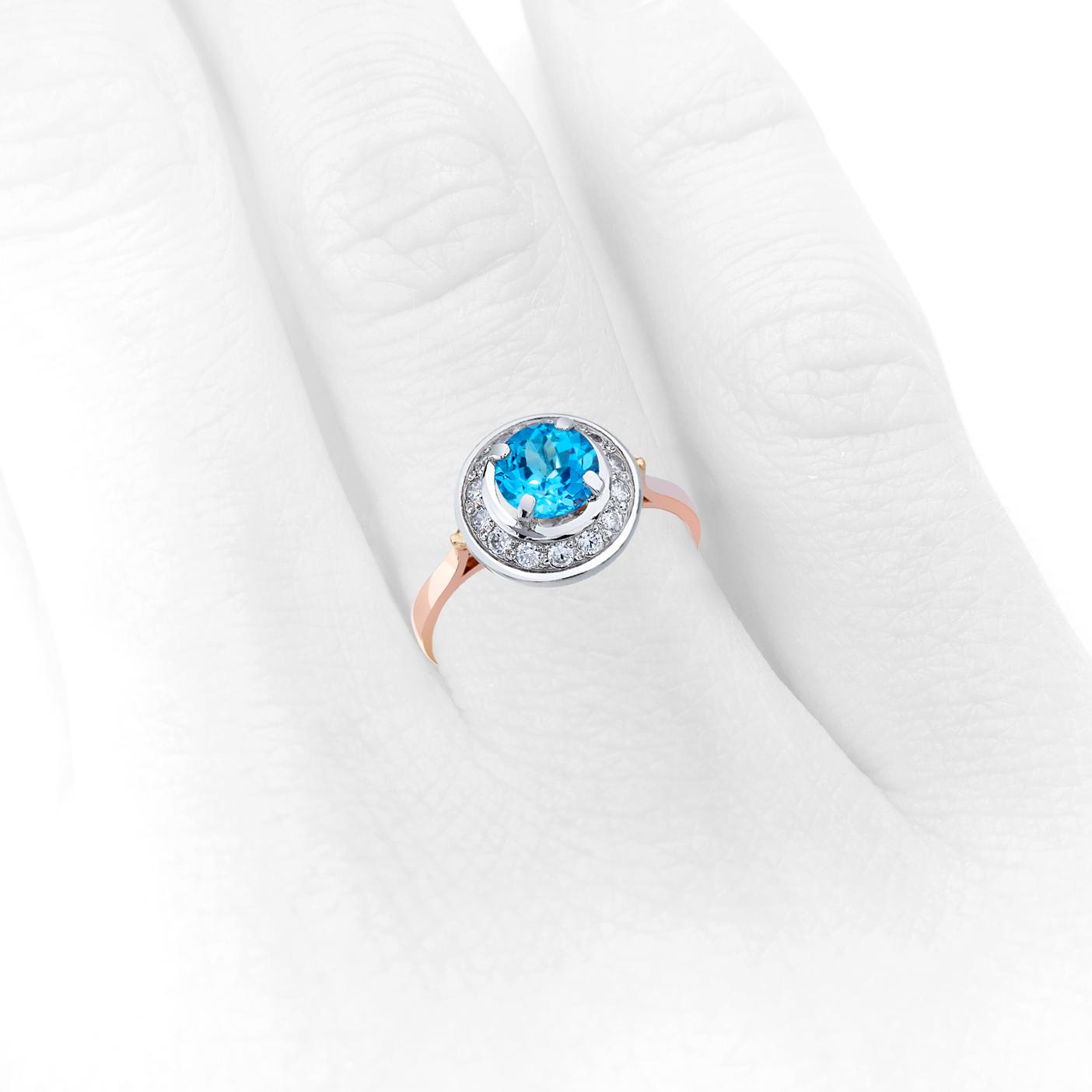 Золотое кольцо с топазом «Прекрасная царевна»