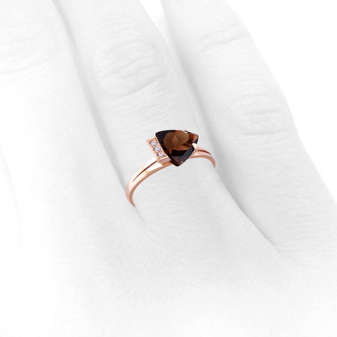 Золотое кольцо с раухтопазом «Элизабет»