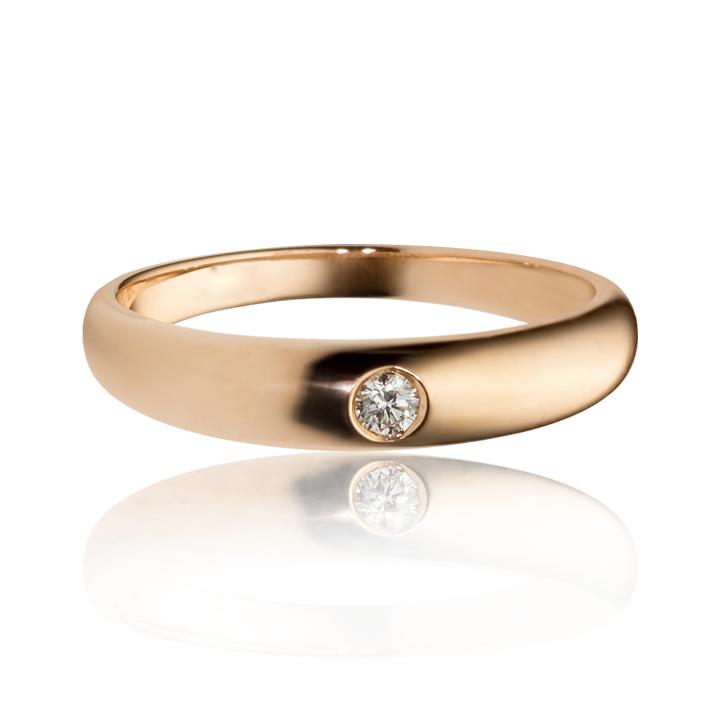 Обручальное кольцо с 1 бриллиантом