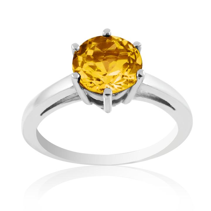 Золотое кольцо с цитрином «VIVA»
