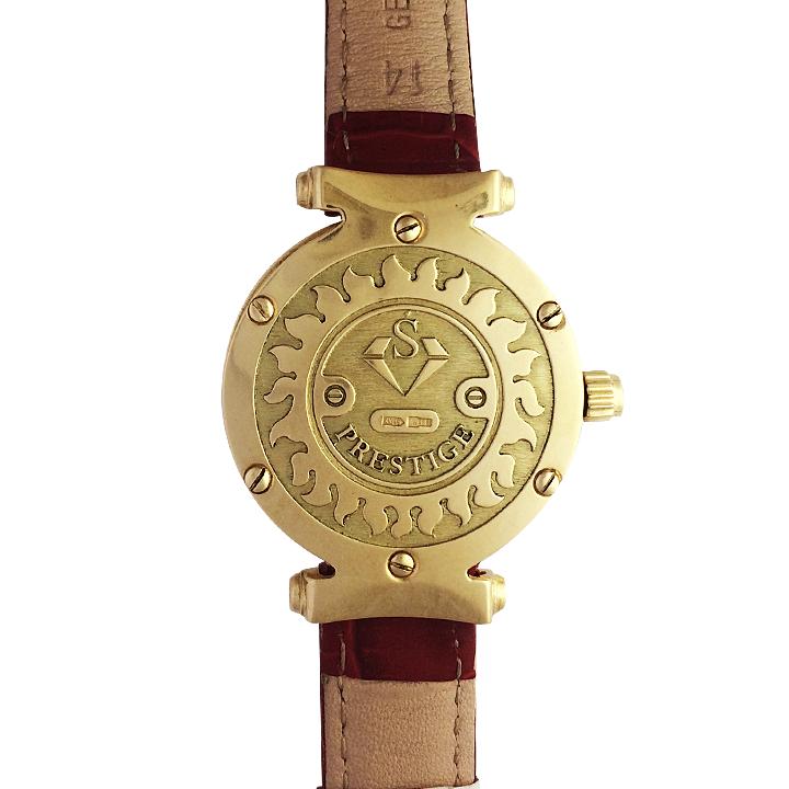 Золотые часы с эмалью «Serena»