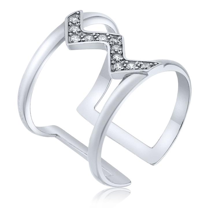Золотое кольцо на фалангу «Stylish»