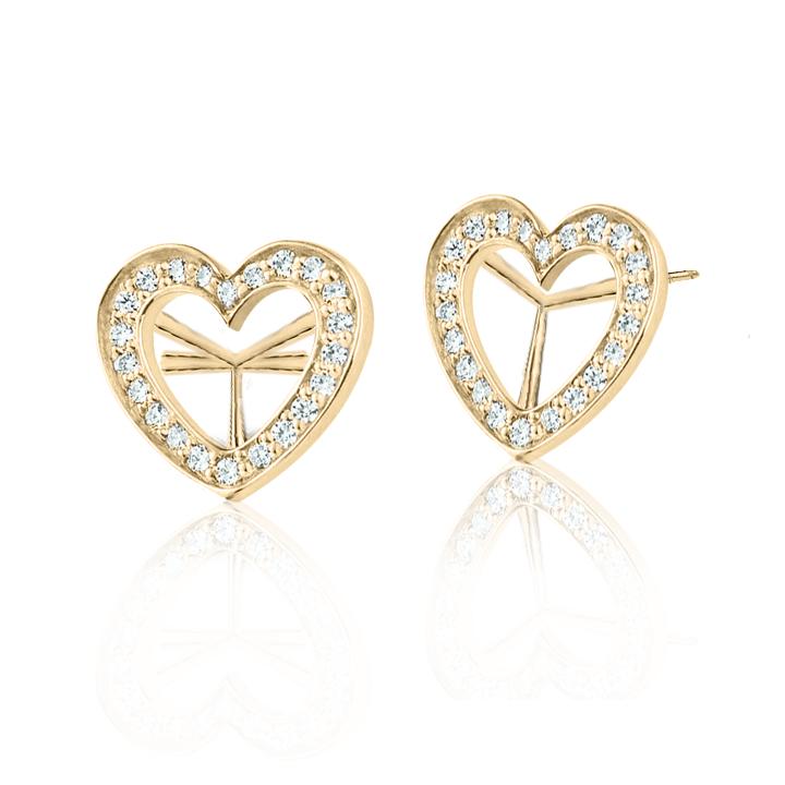 Золоті сережки з цирконієм «Amare»