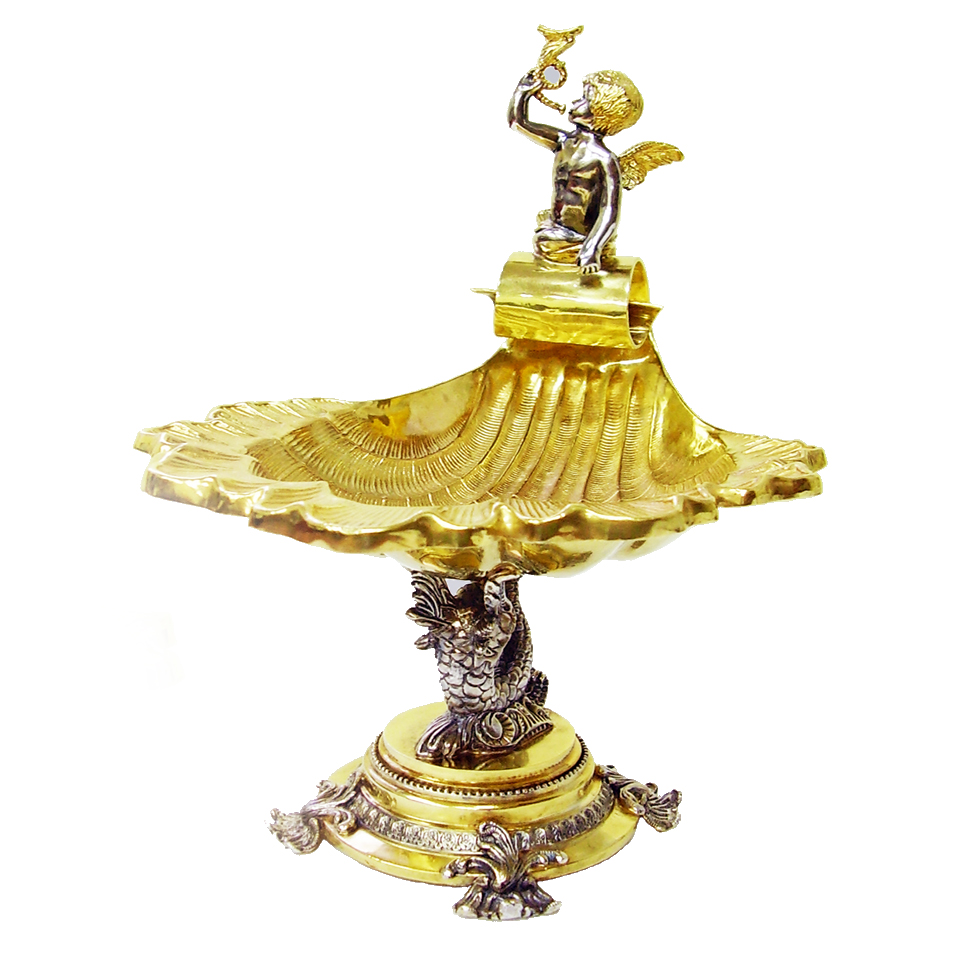 Срібна ваза «Царство морське»