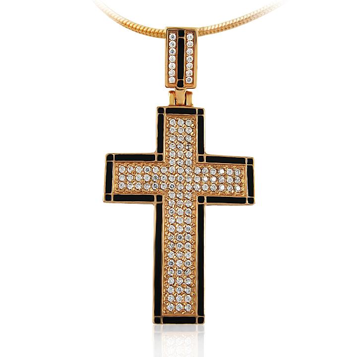 Золота підвіска-хрестик «Сила віри»