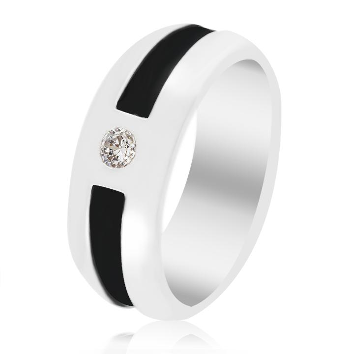 Перстень с чорным діамантом купити