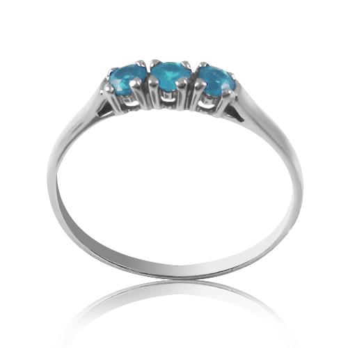 Золотое кольцо с тремя камнями топазами «Трио»