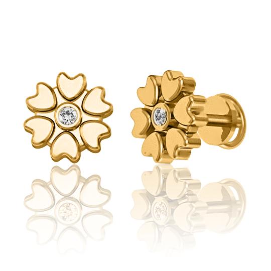 Золоті сережки з діамантами «Julianne»