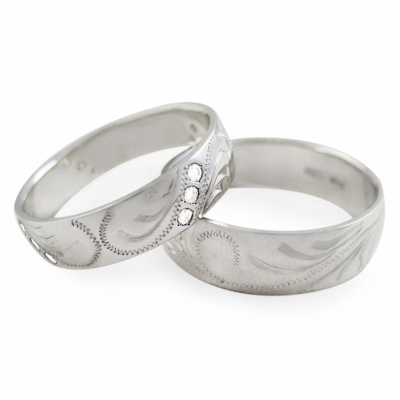 Красивые обручальные кольца набор