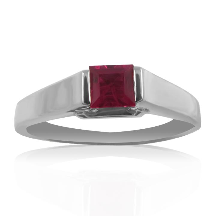 Мужской перстень на мизинец с рубином «Олаф»