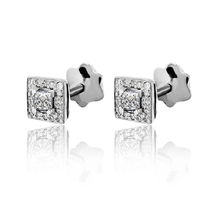 Золотые серьги с бриллиантами «Pret-a-porte»