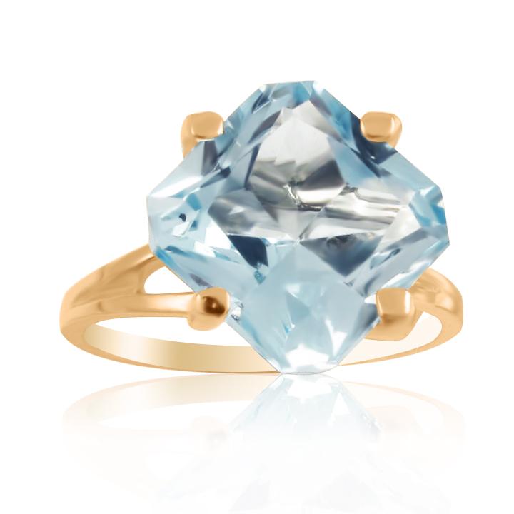 Золотое кольцо с топазом «Шоколадка»