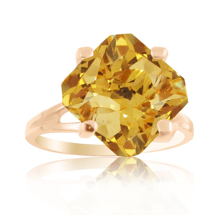 Золотое кольцо с цитрином «Шоколадка»