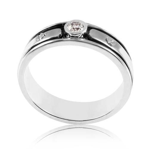 Мужской перстень бриллиантом - 3 Карата