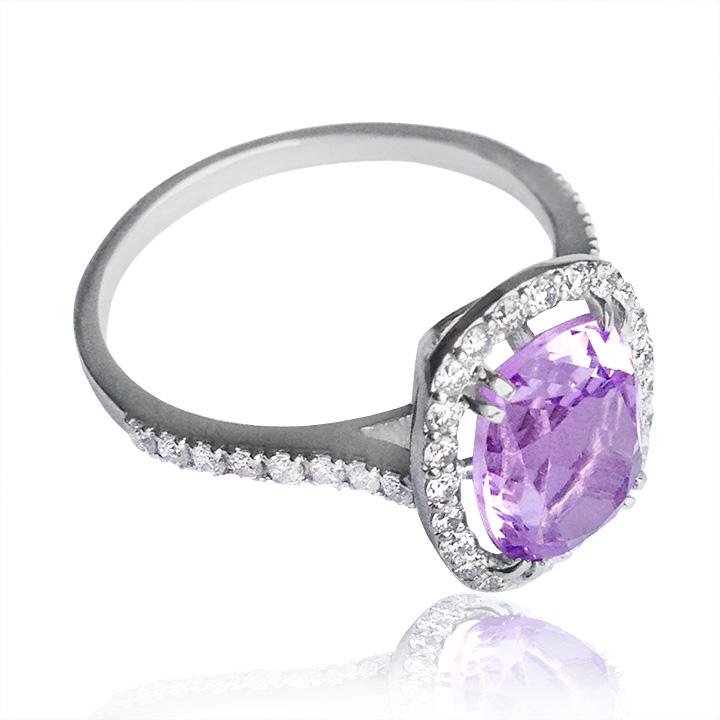Золотое кольцо с аметистом «Аделаида»