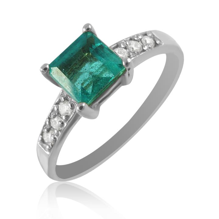 Золотое кольцо с изумрудом и бриллиантами «Жаклин»