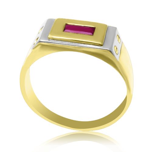 Перстень мужской с рубином «Белый Маг»