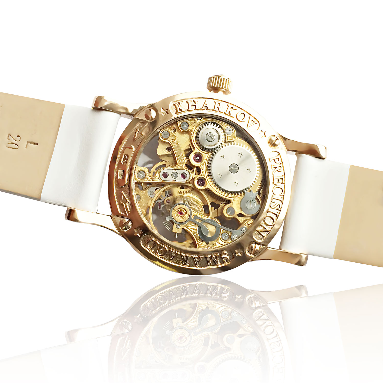 Золотий годинник жіночий «Lady Skeleton»