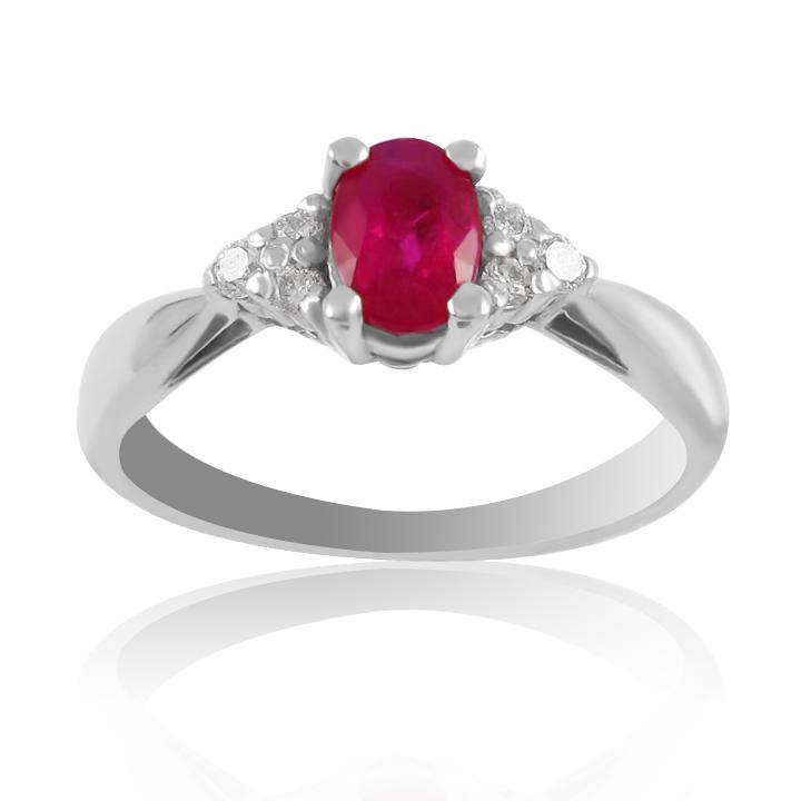 Золота каблучка з рубіном та діамантами «Ікона стилю»