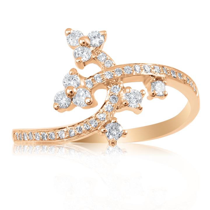 Золоте кільце з діамантами «Melchor»