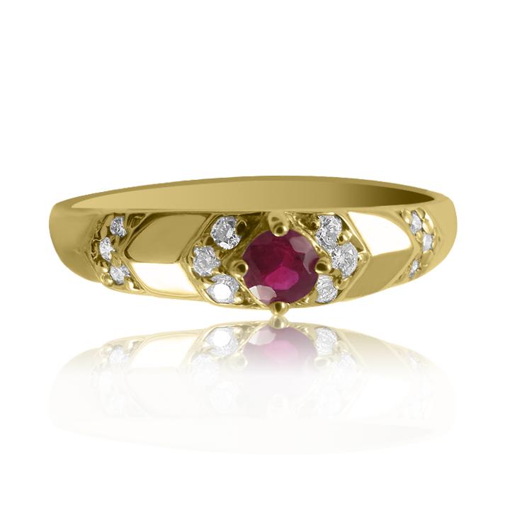 Золотое кольцо с рубином «Джорджия»