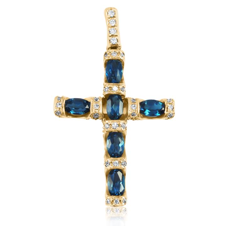 Золотий хрест з топазом «Золотий вік»