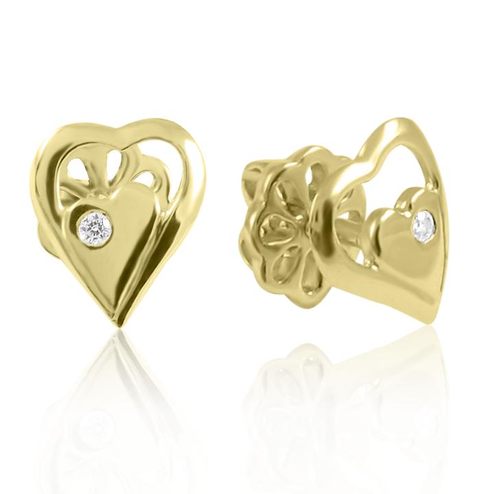 Золоті сережки «Серденько моє »