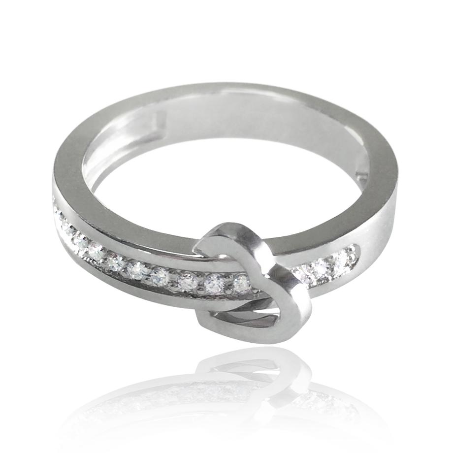 Золота каблучка з діамантами «Любов на віки»