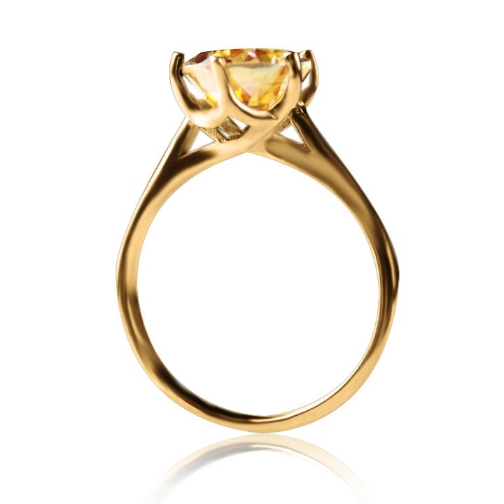 Золота каблучка  з містик топазом «Мідея»