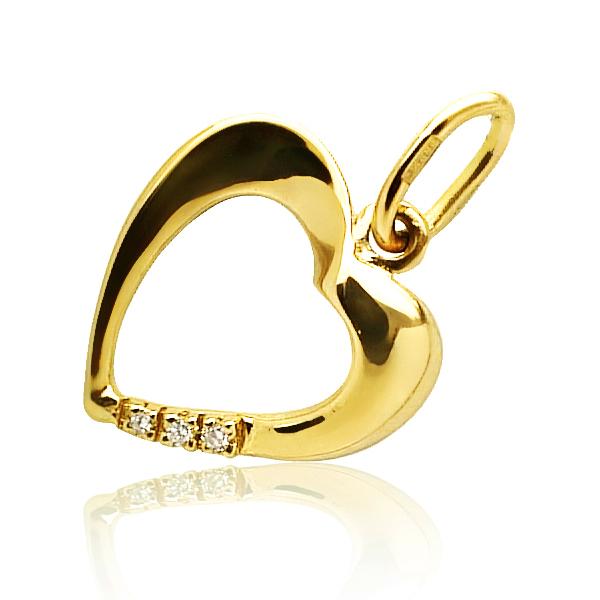 Золота підвіска «Diamond Heart»