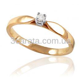 Золота заручальна каблучка з діамантом 0 3ac142c4debce