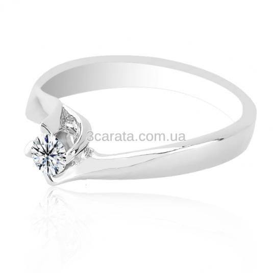 Золота каблучка на заручини з діамантом 0.29 карат «Франческа» 4c172e887bc67