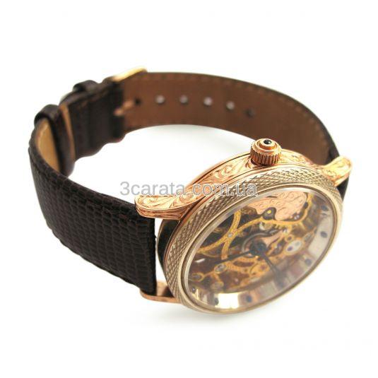 Ексклюзивний золотий чоловічий годинник «Skeleton» edaeb8abd6afc