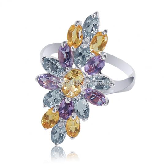 Золотое кольцо с цитрином «Angelica de Martino»