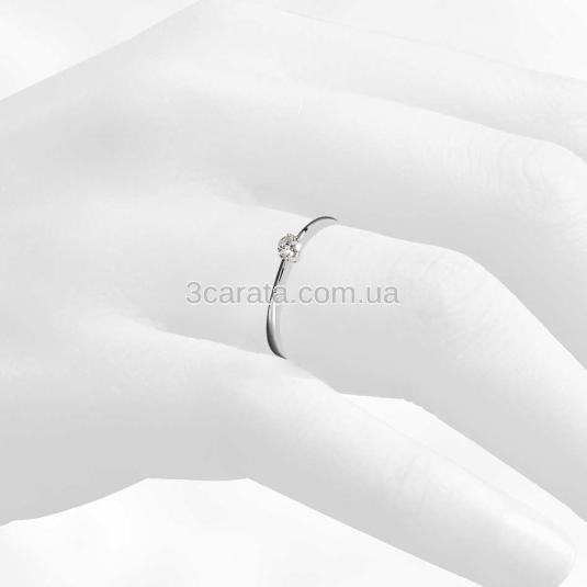 Золота каблучка для заручин з діамантом «Passion» 73af297fc2bdb
