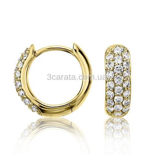 Золоті сережки з цирконієм «Callisto»