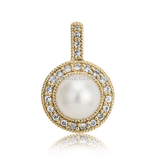 Золотий кулон з перлами «Dzhiempiro»