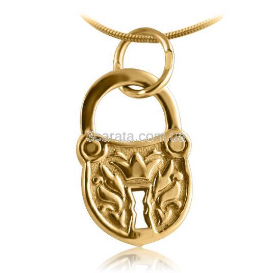 Жіночий кулон «Золотий замочок»