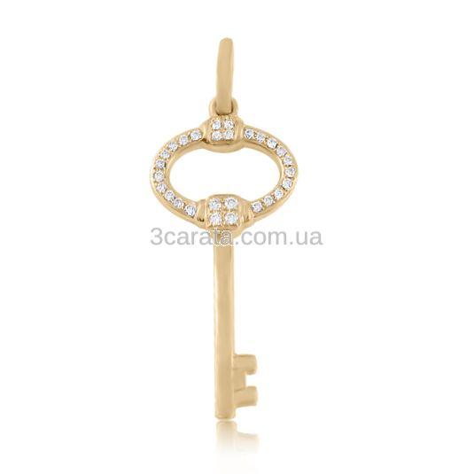 Кулончик ключик с бриллиантами