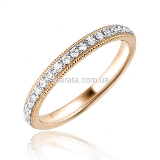 Жіноча обручка із золота з цирконієм 75d610f10515c