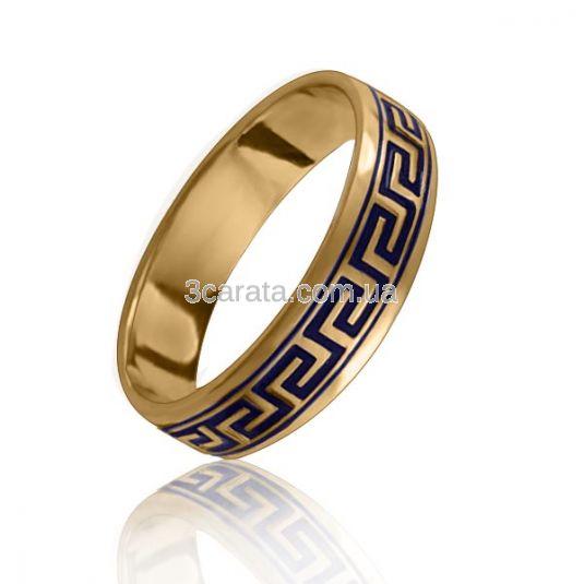 Золотое обручальное кольцо «Greece»