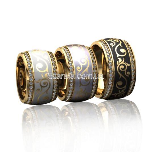 Ексклюзивне кольцо з емаллю «Бьюті»