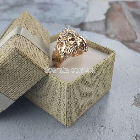 Золотий перстень з рубінами «Золотий лев»