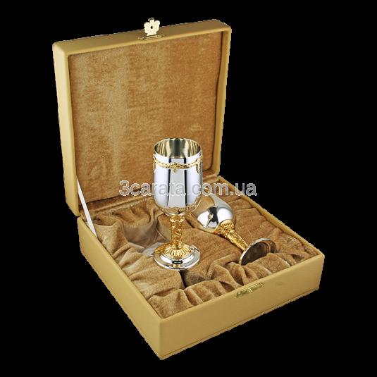 Набір келихів для вина з латуні з позолотою «Аксельбант»