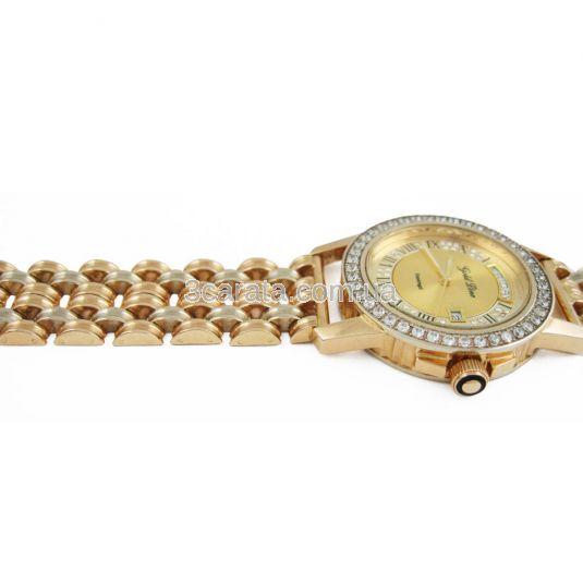 Золотий годинник з фіанітами «Rudolf»